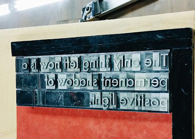 Bloque tipográfico.